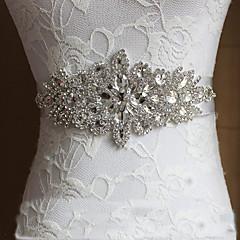 Cetim Casamento Festa/Noite Dia a Dia Faixa-Cristal Pedraria Feminino 98 ½polegadas(250cm) Cristal Pedraria