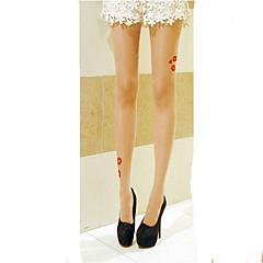 Socks/Stockings Sweet Lolita Lolita Lolita Beige Lolita Accessories Stockings Print For Women Velvet