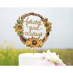케이크 장식 개인화 클래식 커플 아크릴 하드 플라스틱 카드 종이 웨딩 기념일 결혼 측하 옐로우 비치 테마 가든 테마 꽃 테마 클래식 테마 빈티지 테마 폴리 가방