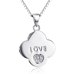 Anhänger Herzform Sterling Silber Diamantimitate Basis Liebe Luxus-Schmuck Schmuck Für Alltag Normal