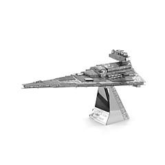 3D-puslespill som Gave Byggeklosser Modell- og byggeleke Hangarskip Metall 14 år og oppover Sølv Leketøy
