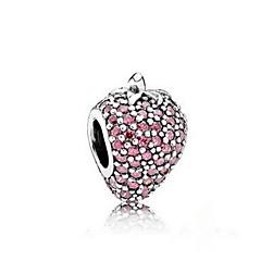 チェーン&リンクブレスレット 純銀製 模造ダイヤモンド 自然 ジュエリー ライトパープル ジュエリー 1個