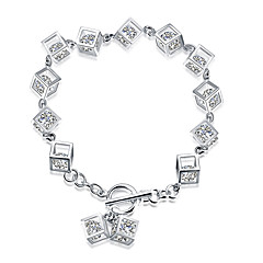 Náramky Řetězové & Ploché Náramky Stříbro Módní Svatební Párty Zásnuby Šperky Dárek Stříbrná,1ks