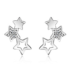 Stud Earrings AAA Cubic Zirconia Costume Jewelry Sterling Silver Jewelry For Wedding Party Daily Casual