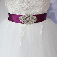Satijn Huwelijk Feest/Uitgaan Dagelijks gebruik Sjerp-Sierstenen Strass 98½In (250Cm) Sierstenen Strass
