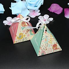 50 Peça/Conjunto Suportes para Lembrancinhas-Pirâmide Papel de Cartão Caixas de Ofertas não-personalizado