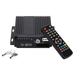 Mini-Echtzeit-Auto-Auto bewegliches dvr 4ch Video / Audio-Eingang h.264 avi mit IR-Fernbedienung encrption