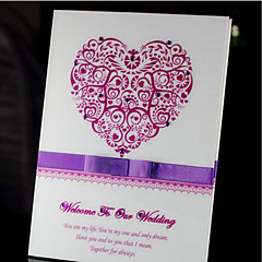 Papel Pérola Tema FloralWithStrass Livro de Convidados