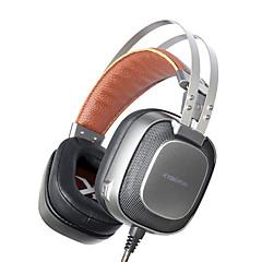 xiberia k10 jogo auricular estéreo casque com mic microfone / respiratórios leves melhores fones de ouvido de jogos cabeça para gamer pc