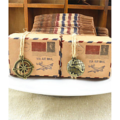 50pcs/lots New Stamp Design Kraft Paper Candy Boxes Chocolate Packaging Box Gift Box For Guests Party Decoration Wedding Supplies
