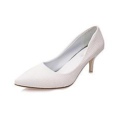 נשים-עקבים-PU-נוחות נעלי מועדון-שחור לבן-חתונה משרד ועבודה שמלה יומיומי מסיבה וערב-עקב סטילטו