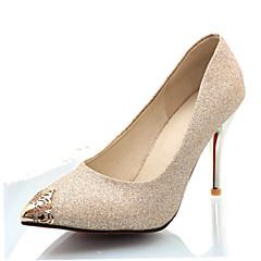 נשים-עקבים-נצנצים חומרים בהתאמה אישית-נעלי מועדון-שחור כחול כסוף זהב-חתונה שמלה מסיבה וערב-עקב סטילטו