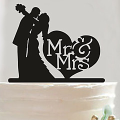 Acrylic Mr & Mrs Heart Cake Topper Non-personalized Acrylic Wedding / Anniversary / Bridal Shower  14.5*14cm