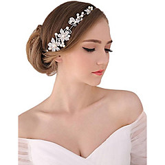 Γυναικείο Μαργαριταρένια Κρυστάλλινο Κράμα Headpiece-Γάμος Ειδική Περίσταση Υπαίθριο Τιάρες Κεφαλόδεσμοι Λουλούδια Αλυσίδα για το Κεφάλι1