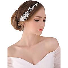 Mujer Perla Cristal Aleación Celada-Boda Ocasión especial Al Aire Libre Tiaras Bandas de cabeza Flores Cadena para la Cabeza 1 Pieza