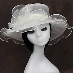 Organza Chiffon Fabric Headpiece-Wedding Special Occasion Casual Outdoor Fascinators 1 Piece