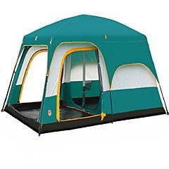 > 8 osoba Dvaput Dvije sobe šator za kampiranjePješačenje Kampiranje Putovanje-Zelen