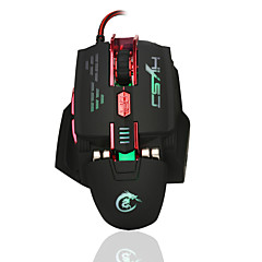 HXSJ X200 4000DPI 7D USB Wired Programmable Macro Gaming Mouse 4000 DPI Gaming Programmable Luminous MouseWithUSB