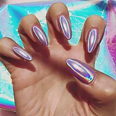 1pc høj kvalitet de regnbuens farver laser pulver regnbuefarver det magiske spejl pulver