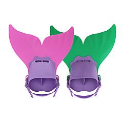 Kits para Snorkeling Fins de Mergulho Pacotes de Mergulho Ajustável Pala Curta Mergulho e Snorkeling Natação PP TPR