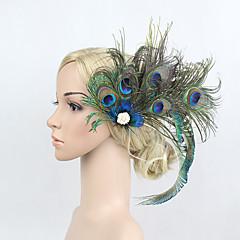 Veren Bergkristal Licht Metaal Helm-Speciale gelegenheden Bloemen Haarclip 1 Stuk