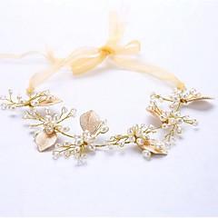 Crostal Imitação de Pérola Capacete-Casamento Ocasião Especial Flores 1 Peça