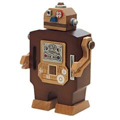 Zenedoboz Robot Újdonság Fa