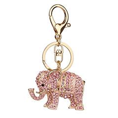 Nøglering Elefant Nøglering Elfenbenshvid Orange Metal