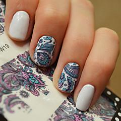 1 Neglekunst klistremerke Vann Overføre Dekor Sminke Kosmetikk Neglekunst Design