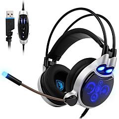 sades sa-908 בס עמוק רטט פונקצית fone דה ouvido פרו אוזניות הגיימינג 7 אוזניות משחק צבע הובילו עם מיקרופון עבור גיימר PC
