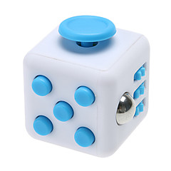 reliever Angst Fidget Würfel kubische Würfel zappeln Spielzeug für die Fokussierung / Spannungsarmglühen abs --Weißes&blau