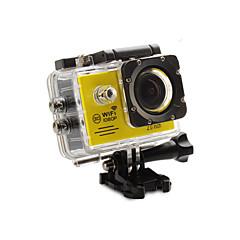 מצלמה בסגנון / מצלמת פעולה 12MP 1920 x 1080 WIFI עמיד במים G-Sensor זויית רחבה הכל באחד ניתן להתאמה USB 60fps 4X 2 32 GB H.264צילום(סינגל