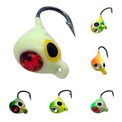 """6 יח ' פיתיון מתכת ג'יג אחרים פתיונות דיג קרסי הקפצה (Jigs) Jig Head מבחר צבעים g/אונקיה,15 mm/<1"""" אינץ ',עופרת מתכת פלדת אל חלד/ברזלדיג"""