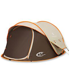 """3-4 אנשים אוהל כפול אוהל אוטומטי חדר אחד קמפינג אוהל 2000-3000 מ""""מ סיבי פחמן אוקספורד עמיד ללחות עמיד למים מוגן מגשם נשימה-צעידה קמפינג"""