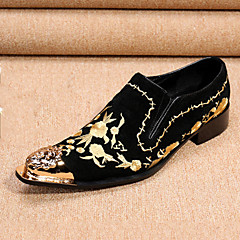 Men's Loafers & Slip-Ons Spring Fall Comfort Novelty Formal Shoes Leather Suede Wedding Office & Career Party & Evening Walking Flat Heel