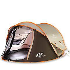 3-4 személy Sátor Dupla Automatikus sátor Egy szoba kemping sátor 2000-3000 mm Szénszálas OxfordPárásodás gátló Vízálló Lélegzési