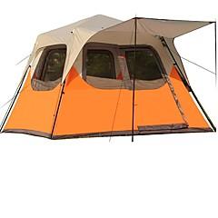 5-8 사람 더블 베이스 자동 텐트 원 룸 캠핑 텐트 >3000mm 방수 방풍 비 방지-캠핑 & 하이킹 피싱 등산 캠핑 여행-