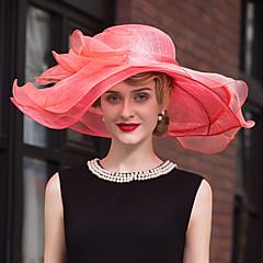 Flax Organza Headpiece-Wedding Special Occasion Casual Hats 1 Piece