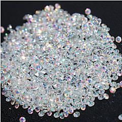 720pcs 마이크로 다이아몬드 DIY는 모조 다이아몬드 수정 같은 납작한 뒤 비 hotfix 모조 다이아몬드 스티커 못 풀기 예술 장식을 못을 박았다
