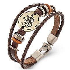 Dames Heren Lederen armbanden Vintage Leder Geometrische vorm Sieraden Voor 1 st.