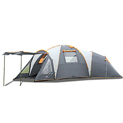 5-8 Pessoas Tenda Duplo Tenda Dobrada Mais de 4 Quartos Barraca de acampamento >3000mm Fibra de Vidro OxfordProva-de-Água A Prova de