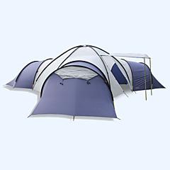 > 8 pessoas Tenda Duplo Tenda Dobrada Quatro Quartos Barraca de acampamento Fibra de Vidro OxfordProva-de-Água A Prova de Vento