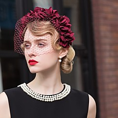 Tulle Chiffon Headpiece-Wedding Special Occasion Casual Office & Career Headbands Birdcage Veils 1 Piece