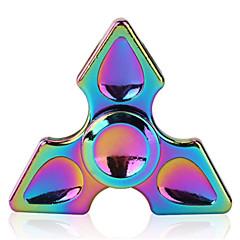Alliage en arc-en-ciel spinner à main tri fidget focus toy coloré gyro edc adhd autisme