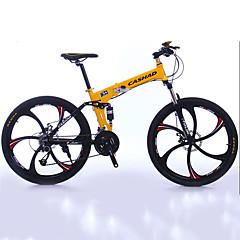 산악 자전거 Folding Bikes Pyöräily 27 Nopeus 26 tuumaa/700CC 50mm Miesten Unisex Aikuinen Shimono Tuplalevyjarru Etujousihaarukka