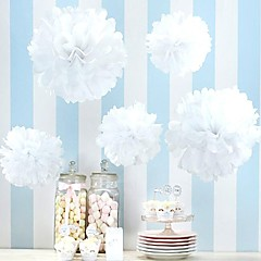 Wedding Decor (Set of 10) - 4 inch Paper Pom Tissue Flower Beter Gifts® Party Supplies