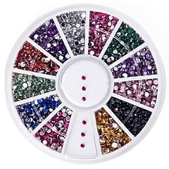 고품질 2000 년 1.5mm 둥근 반짝이 네일 아트 장식 바퀴 보석 모조 다이아몬드