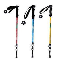 5 Bengalas para Caminhar Nórdicas 135 centímetros (53 polegadas) Húmido Dobrável Peso Leve Ajustável Fibra de CarbonoAcampar e Caminhar