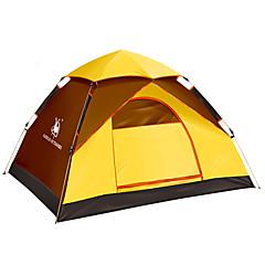 3-4 személy Sátor Egyszemélyes Automatikus sátor Egy szoba kemping sátor Üvegszál OxfordVízálló Szélbiztos Ultraibolya biztos
