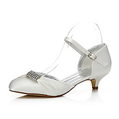 Dame-Silke-Lav hæl-Komfort Dyeable Sko-bryllup sko-Bryllup Friluft Kontor og arbeid Formell Fest/aften-